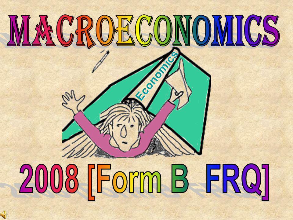 MACROECONOMICS Economics 2008 [Form B FRQ]